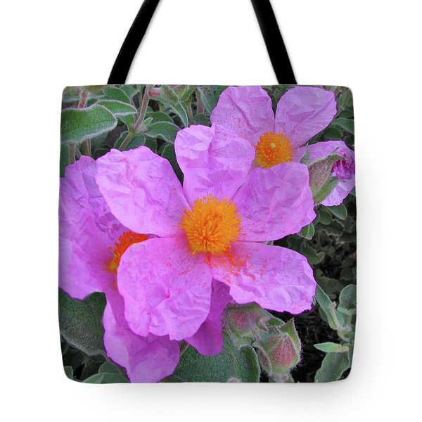 Tote Bag featuring the photograph Beach Flower by Arthur Fix