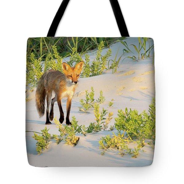 Beach Fox #2 Tote Bag