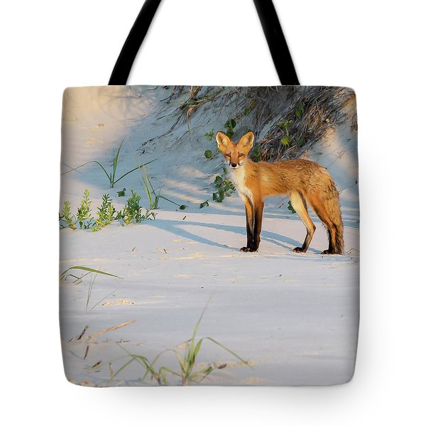 Beach Fox #3 Tote Bag