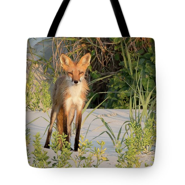 Beach Fox Tote Bag