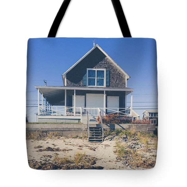 Tote Bag featuring the photograph Beach Front Cottage by Edward Fielding