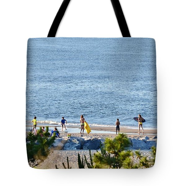 Beach Fun At Cape Henlopen Tote Bag