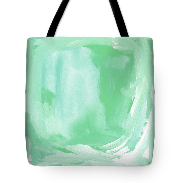 Beach Glass Blues Abstract- Art By Linda Woods Tote Bag