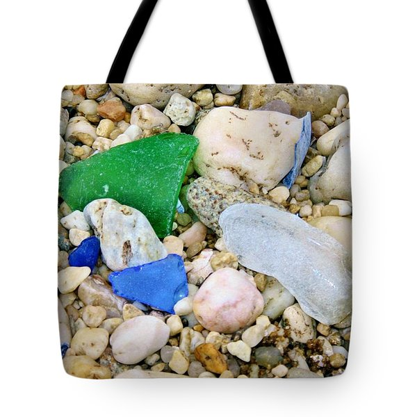 Tote Bag featuring the photograph Beach Glass by Karen Silvestri