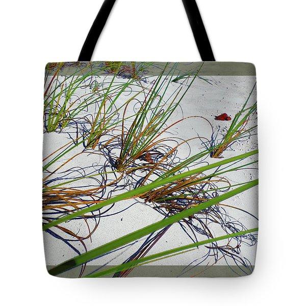Beach Grass Tote Bag by Ginny Schmidt