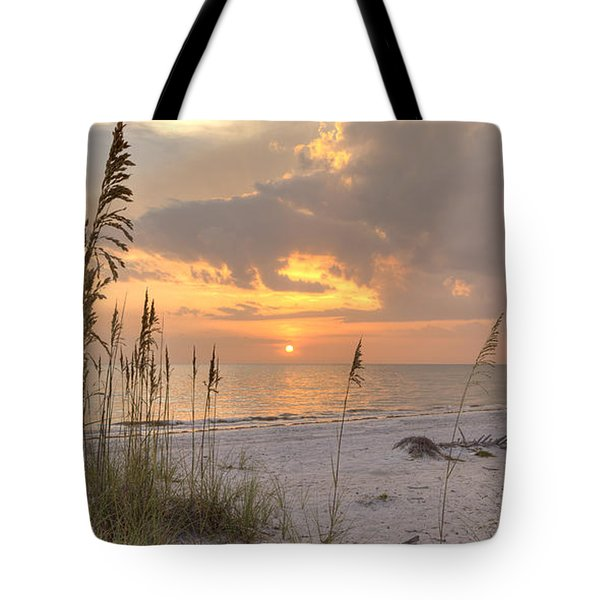 Beach Grass Sunset Tote Bag