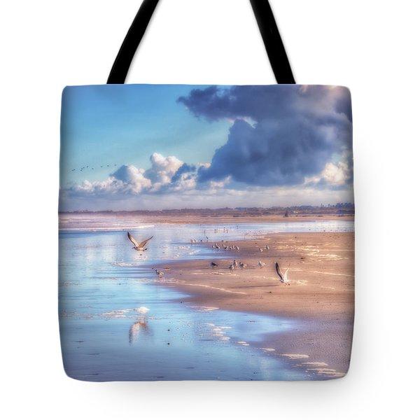 Beach Gulls Tote Bag