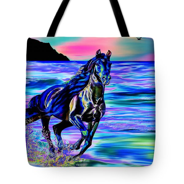 Beach Horse Tote Bag