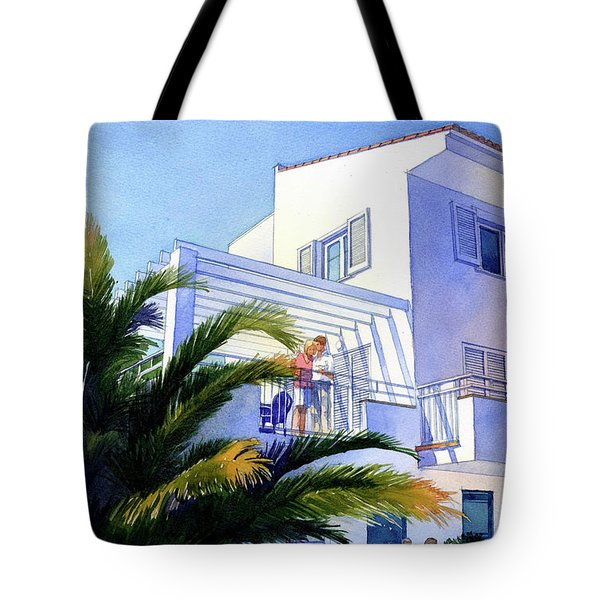 Beach House At Figueres Tote Bag