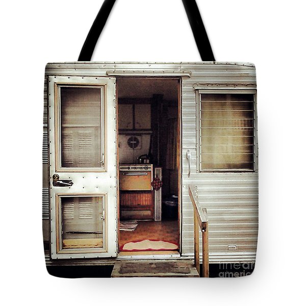 Camping Trailer Tote Bag