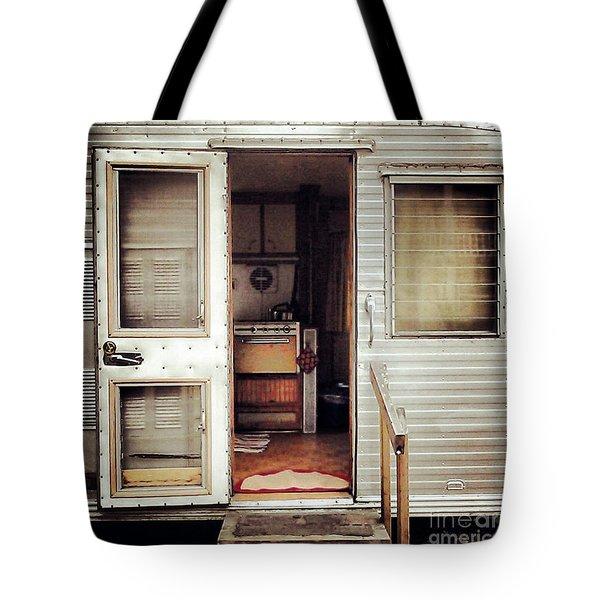Camping Trailer Tote Bag