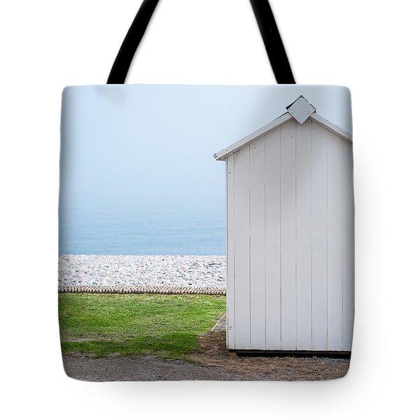 Beach Hut By The Sea Tote Bag