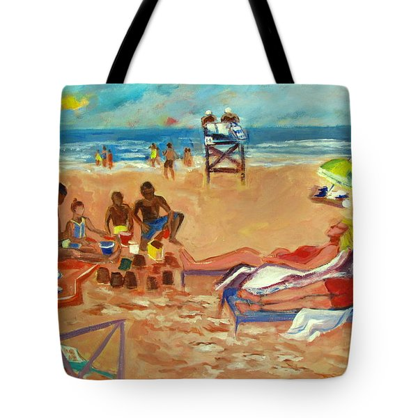 Beach In August Tote Bag