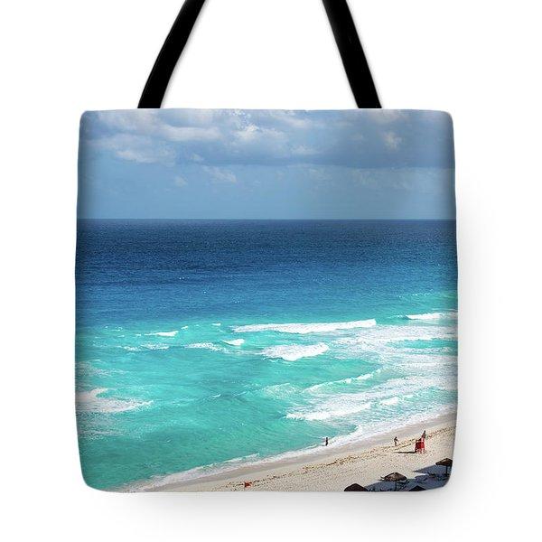 Beach In Cancun Tote Bag