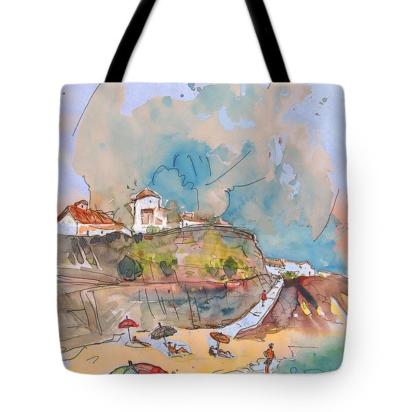 Beach In Ericeira In Portugal Tote Bag by Miki De Goodaboom