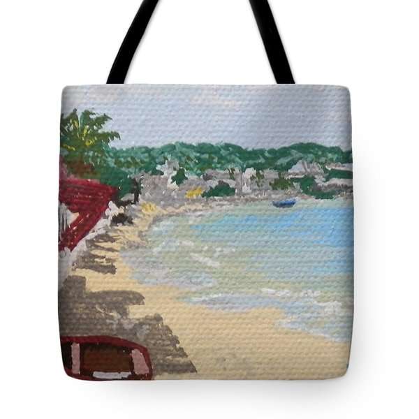 Beach In Grand Case Tote Bag