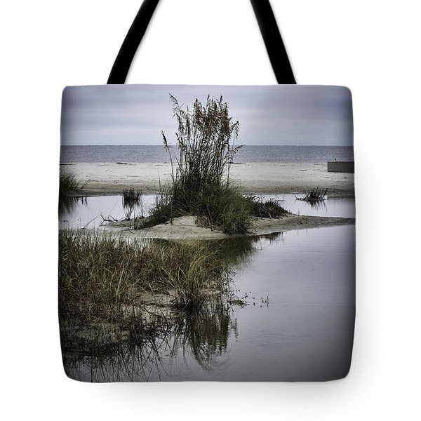 Tote Bag featuring the photograph Beach Island by Judy Wolinsky