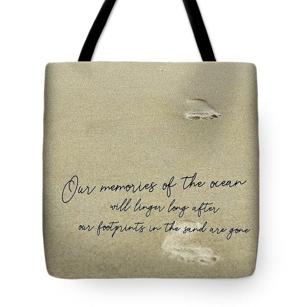 Beach Jog Quote Tote Bag