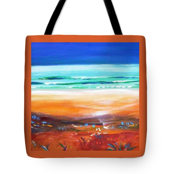 Tote Bag featuring the painting Beach Joy by Winsome Gunning