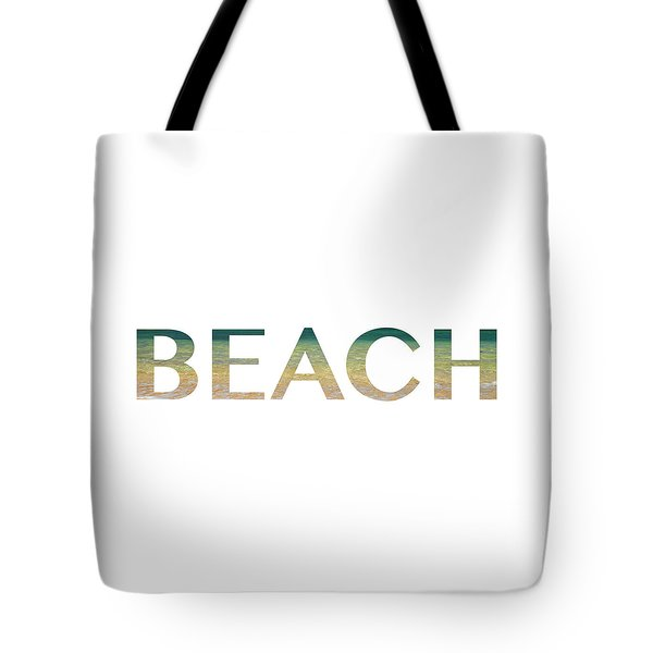 Beach Letter Art Tote Bag