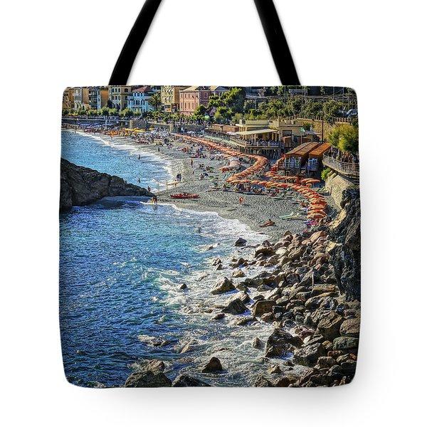 Beach Monterosso Italy Dsc02467 Tote Bag