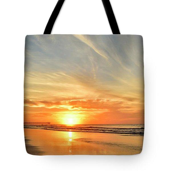 Beach Of Gold Tote Bag