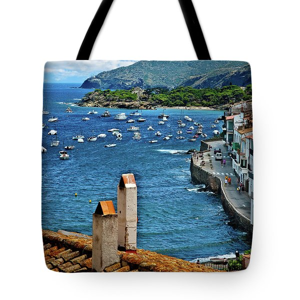 Tote Bag featuring the photograph Beach Overlook by Harry Spitz