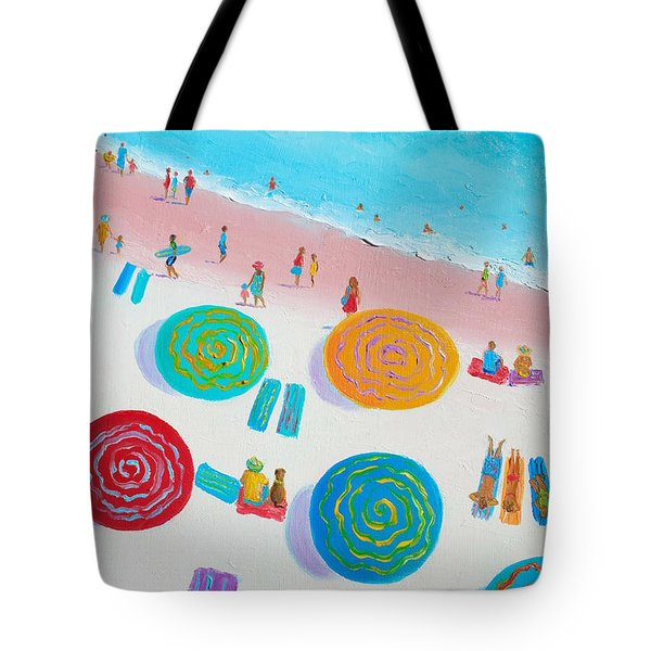 Beach Painting - A Walk In The Sun Tote Bag