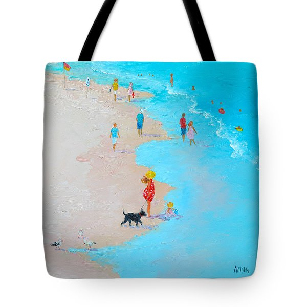 Beach Painting - Beach Day - By Jan Matson Tote Bag