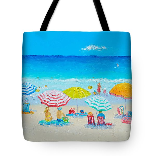 Beach Painting - Catching The Breeze Tote Bag