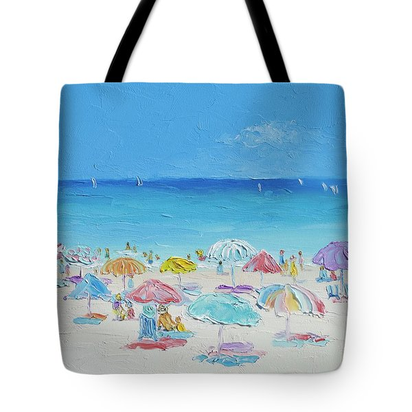 Beach Painting - Summer Paradise Tote Bag