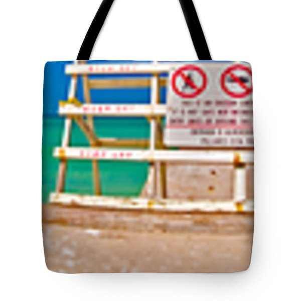 Beach Panorama Tote Bag