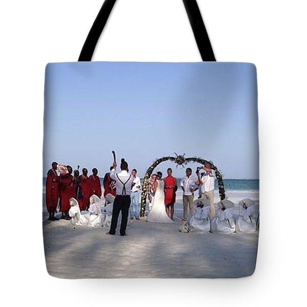 Beach Panoramic Wedding  Tote Bag