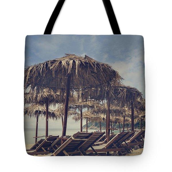 Beach Parasols Tote Bag
