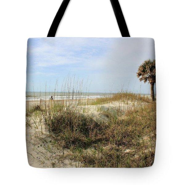 Beach Path Tote Bag by Angela Rath