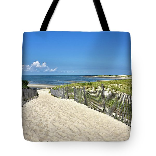 Tote Bag featuring the photograph Beach Path At Cape Henlopen State Park - The Point - Delaware by Brendan Reals