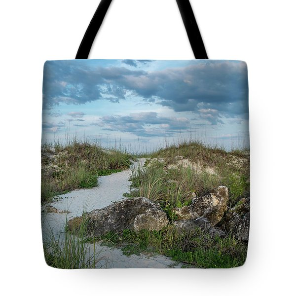 Tote Bag featuring the photograph Beach Path by Louis Ferreira
