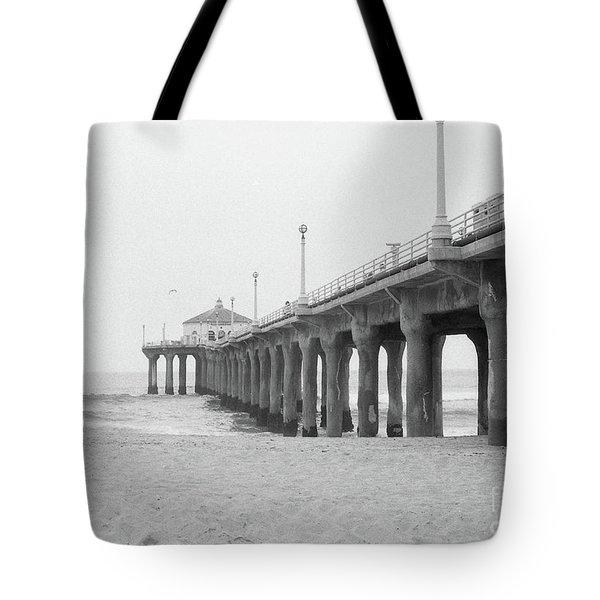 Beach Pier Film Frame Tote Bag