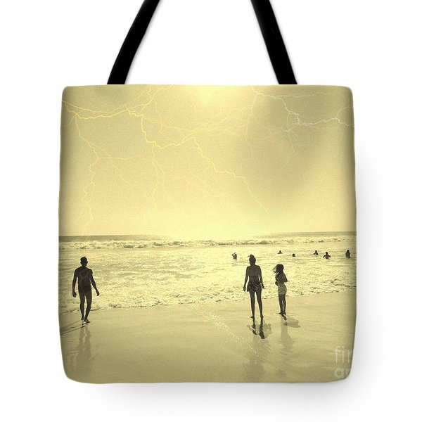 Tote Bag featuring the photograph Beach Planet Series I by Beto Machado