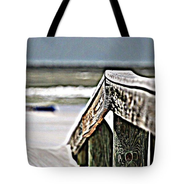 Beach Rail Tote Bag