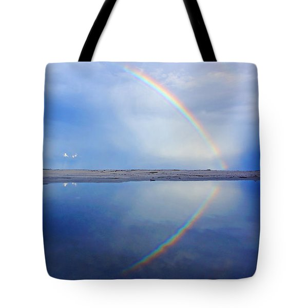 Beach Rainbow Reflection Tote Bag