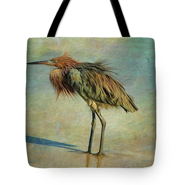 Beach Reddish Egret Tote Bag