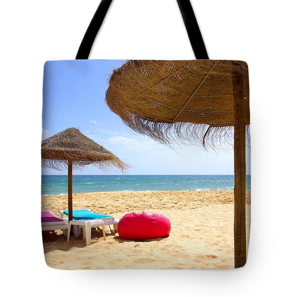 Beach Relaxing Tote Bag by Carlos Caetano