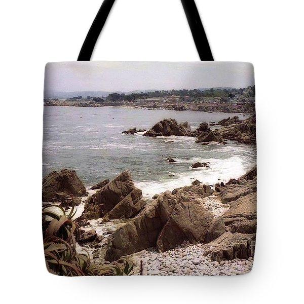 Beach Rock Ocean Waves Tote Bag