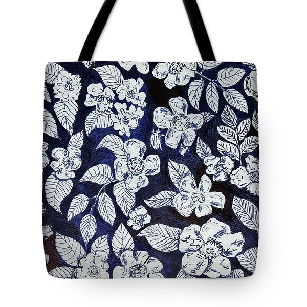 Beach Rose Pattern Tote Bag