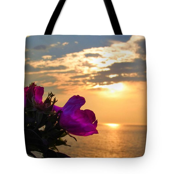 Beach Roses Tote Bag