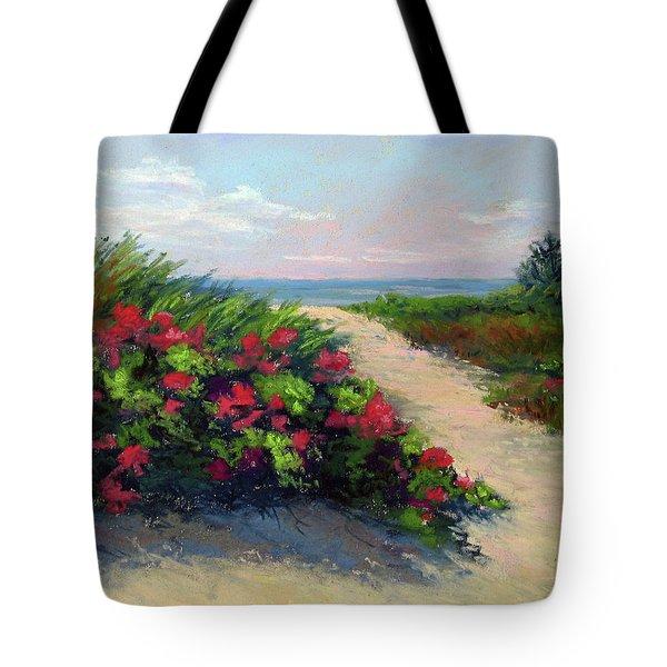 Beach Roses Tote Bag