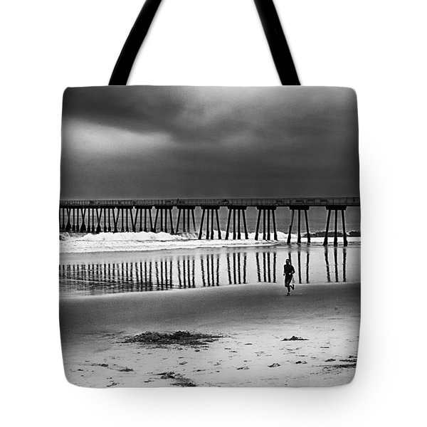 Tote Bag featuring the photograph Beach Runner by Joseph Hollingsworth