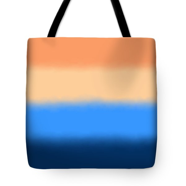 Beach Sand And Water - Sq Block Tote Bag