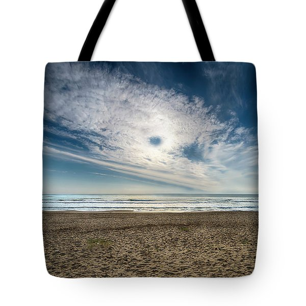 Tote Bag featuring the photograph Beach Sand With Clouds - Spiagggia Di Sabbia Con Nuvole by Enrico Pelos